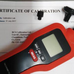 calibrated tachometer