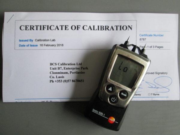 Calibrated Testo 606-1