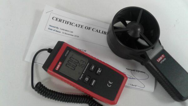 Calibrated Anemometer