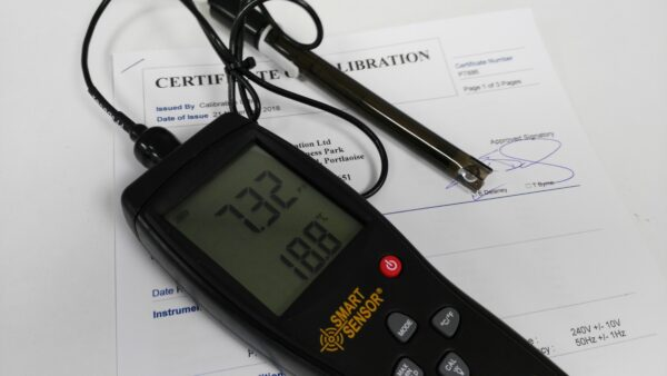 calibrated ph meter